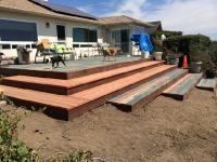Redwood back deck