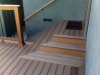 Timbertech Entryway Deck and Privacy Wall
