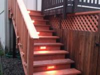 Under lit stairway