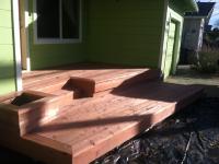 Redwood entryway deck