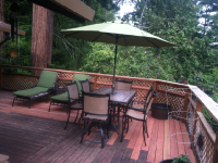 Redwood deck extension