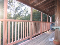 Redwood Railing and Supports Replacement